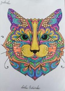 mandala kočka Rózinka